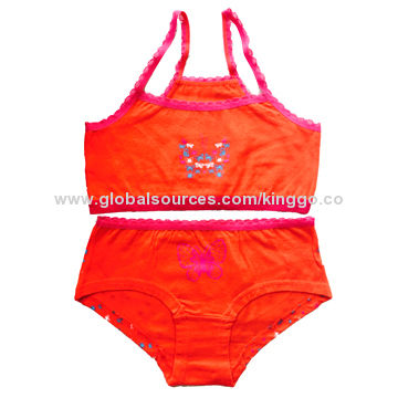 Children's/Girls' Orange Sleepwear Suits, Available in Various Prints and Colors