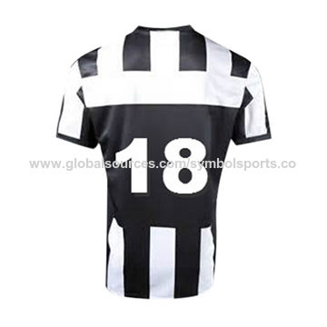 Fashion blue and white soccer jersey, made of 100% polyester 140gsm interlock