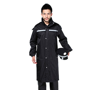 Motorcycle raincoat, waterproof with red color, two pieces set